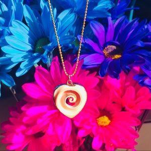 Heart shaped 🐚 shell-wave 🌊 pendant.